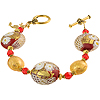 Red and Gold Zanfirico Daisy Bracelet