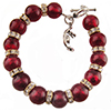 Red Sparkly Bracelet, Available in 6 to 8 1/2 Inches