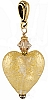 Crystal Gold Heart Pendant 20mm