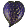 Lapis Gold Bubble Heart Paperweight