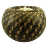 Black Gold Bubbles Murano Glass Votive