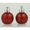Red and Gold Murano Glass Salt and Pepper Shakers