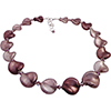 Shades of Purple Murano Glass Twists Necklace 18 Inches with 2/12 Extension