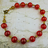 Red Murano Glass Blown Bead Necklace