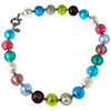 Multi Pastels Murano Glass Necklace 16in