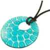 Aqua Millefiori Necklace 18 in