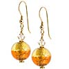 Bicolor Round Earrings - Topaz/Light Topaz