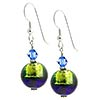Bicolor Round Earrings - Green/Cobalt
