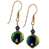Sole Earrings - Green and Cobalt