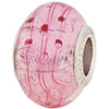 PerlaVita Crystal Bubbles Murano Glass Pink & Silver, 5mm Hole, Sterling