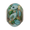 Pale Aqua Bed of Roses Rondel PERLAVITA Sterling