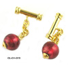 Murano Glass Rubino Cufflinks
