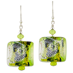 Fantasy Sparkles Earrings, Green