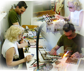 Designing new Venetian Glass Beads for fashion jewelry with a local Murano bead artist.
