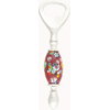 Red Millefiori Flowers Murano Glass Bottle Opener