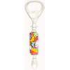 Red Tube Millefiori Flowers Murano Glass Bottle Opener