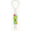 Light Green Tube Millefiori Flowers Murano Glass Bottle Opener