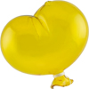 Oval Yellow Boro Glass Hanging Balloon, Large ~ 4 1/2 Inch