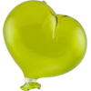 Oval Green Boro Glass Hanging  Balloon, Large ~ 4 1/2 Inch