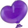 Oval Purple Boro Glass Hanging  Balloon, Large ~ 4 1/2 Inch