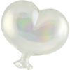 Oval Clear Boro Glass Hanging Balloon, Small ~ 3 1/2 Inch