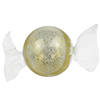 Grande Blown Candies - Clear and Gold MouthBlown Murano Glass