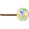 Blue Fiorato and 24kt Gold Foil Murano Glass Drawer Pull