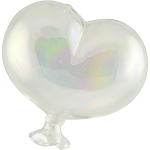 Oval Clear Boro Glass Hanging  Balloon, Large  ~ 4 1/2 Inch