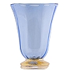 Tromba Venetian Wine Glass - Light Blue and Gold
