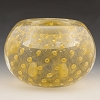 Clear and Gold Bubbles Murano Glass Votive