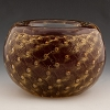 Red Gold Bubbles Murano Glass Votive