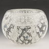 Clear and Silver Bubbles Murano Glass Votive