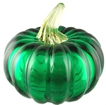 Emerald Glass Pumpkin
