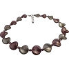 Shades of Purple & Gray Murano Glass Twists Necklace 18 Inches with 2/12 Extension