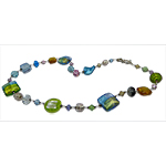 Spring Fling Pastels Murano Glass Necklace 22 Inches