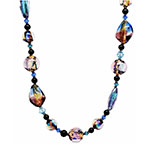 Over the Rainbow - Purple Dichroic Venetian Glass Necklace 24 Inches w/2 Inch Extender