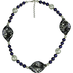 Purple Spiralina Murano Glass Necklace, 20 Inches