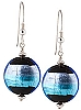 Tricolore Earrings - Blue and Aqua over Black