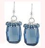 Denim Blue Swarovski GraphicPendant Earrings