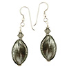 Steel White Gold Murano Glass Earrings