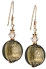 Schissa Earrings - Grey over Gold