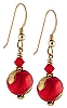 Sole Earrings - Red and Gold