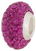 Fuchsia Crystal Studded Rondell Sterling Silver Lined