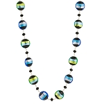 Bicolors 18 Inch Sterling Necklace - Aqua, Green, & Blue Murano Glass Necklace