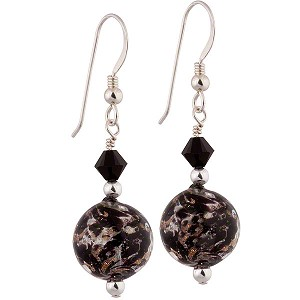 Black Sommerso Earrings