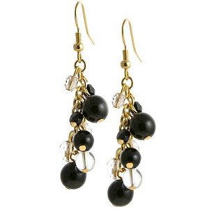 Grappolo Earrings - Black/Gold