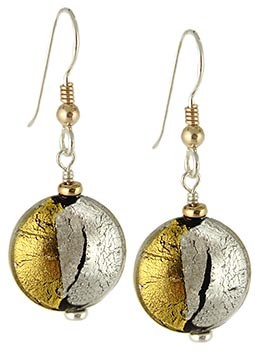 Pezzi Earrings - Crystal over Silver and Gold