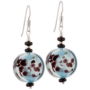 LaCrima Coin Earrings, Opaque Aqua