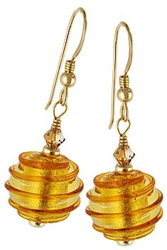 Spirale Earrings - Topaz over Gold