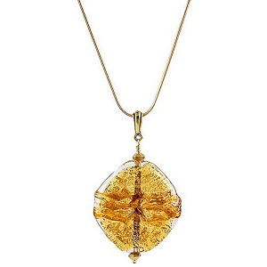 Textured Diamond Pendant - Topaz with Dark Topaz Swirls